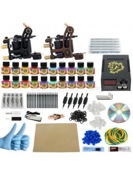 Tatoveringsmaskin Kit En Svart Og En Brun Machine 20 Farges