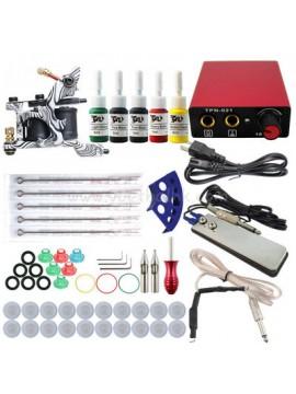 Tatoveringsmaskin Kit En Sølv Machine 5 Farges
