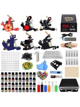 Tatoveringsmaskin Kit Seks Machines 40 Farges