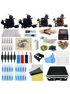 Tatoveringsmaskin Kit Tre Svart Og En Brun Machines