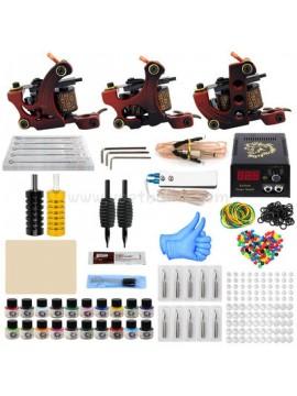 Tatoveringsmaskin Kit Tre Rød Machines 20 Farges