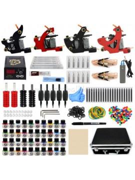 Tatoveringsmaskin Kit To Svart Og To Rød Machine 40 Farges