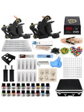 Tatoveringsmaskin Kit To Svart Machines 20 Farges