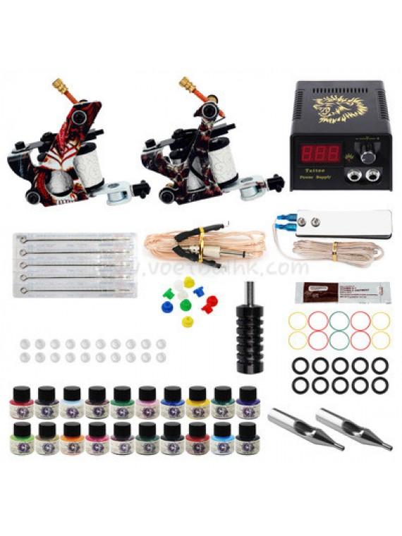 Tatoveringsmaskin Kit To Pattern Machines 20 Farges