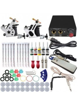 Tatoveringsmaskin Kit To Sølv Machines 5 Farges