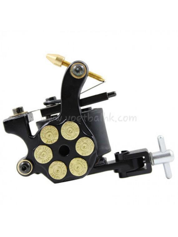 Tatoveringsmaskin N105 10 Layer Coil Jern Shader Bullet Svart