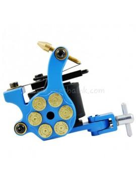 Tatoveringsmaskin N105 10 Layer Coil Jern Shader Bullet Blå