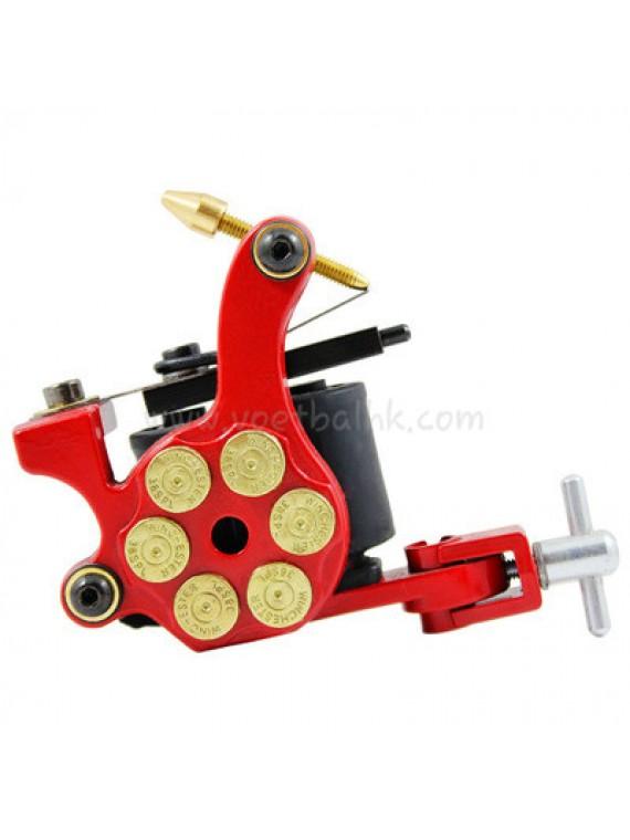 Tatoveringsmaskin N105 10 Layer Coil Jern Shader Bullet Rød