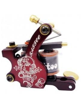 Tatoveringsmaskin N106 10 Layer Coil Jern Shader Rød Lettering