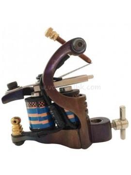 Tatoveringsmaskin N106 10 Layer Coil Jern Shader Retro
