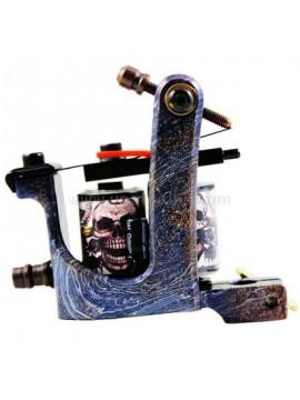 Tatoveringsmaskin N106 10 Layer Coil Jern Shader Skull