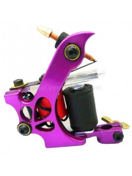 Tatoveringsmaskin N110 10 Layer Coil Farge Aluminum Shader Miste Purple