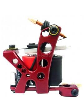 Tatoveringsmaskin N110 10 Layer Coil Farge Aluminum Shader Hull Rød