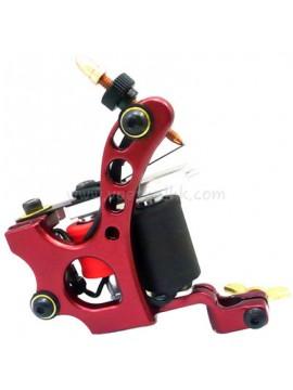 Tatoveringsmaskin N110 10 Layer Coil Farge Aluminum Shader Rød