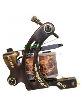 Tattoo Maskin N130 10 Layer Coil Bronse Shader Nummer 8038