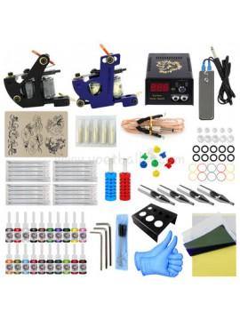 Tatoveringsmaskin Kit En Svart Og En Blå Machine 20 Farges