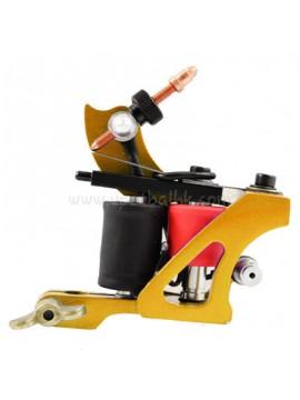 Tatoveringsmaskin N102 10 Layer Coil Farge Jern Shader Gul