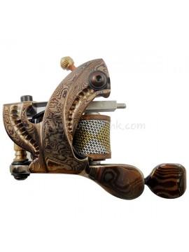 Tatoveringsmaskin N109 10 Layer Coil Damascus Stål Liner Bright Gul