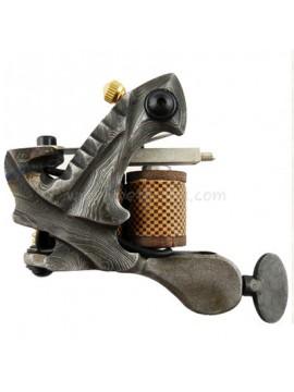 Tatoveringsmaskin N109 10 Layer Coil Damascus Stål Liner Grå