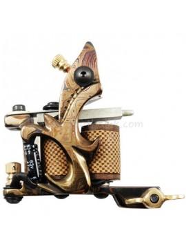Tatoveringsmaskin N109 10 Layer Coil Damascus Stål Liner Gul