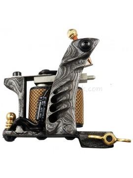 Tatoveringsmaskin N109 10 Layer Coil Damascus Stål Shader Pattern
