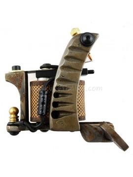 Tatoveringsmaskin N109 10 Layer Coil Damascus Stål Shader Sølv