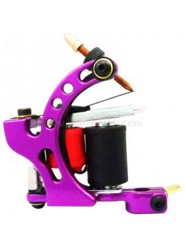Tatoveringsmaskin N110 10 Layer Coil Farge Aluminum Shader Fugl Purple