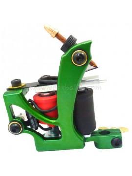 Tatoveringsmaskin N110 10 Layer Coil Farge Aluminum Shader Flying Grønn