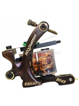 Tattoo Maskin N130 10 Layer Coil Bronse Shader Nummer 8037